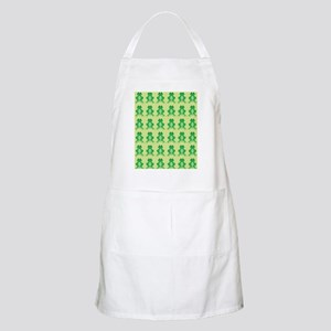 Happy Green Frogs Apron